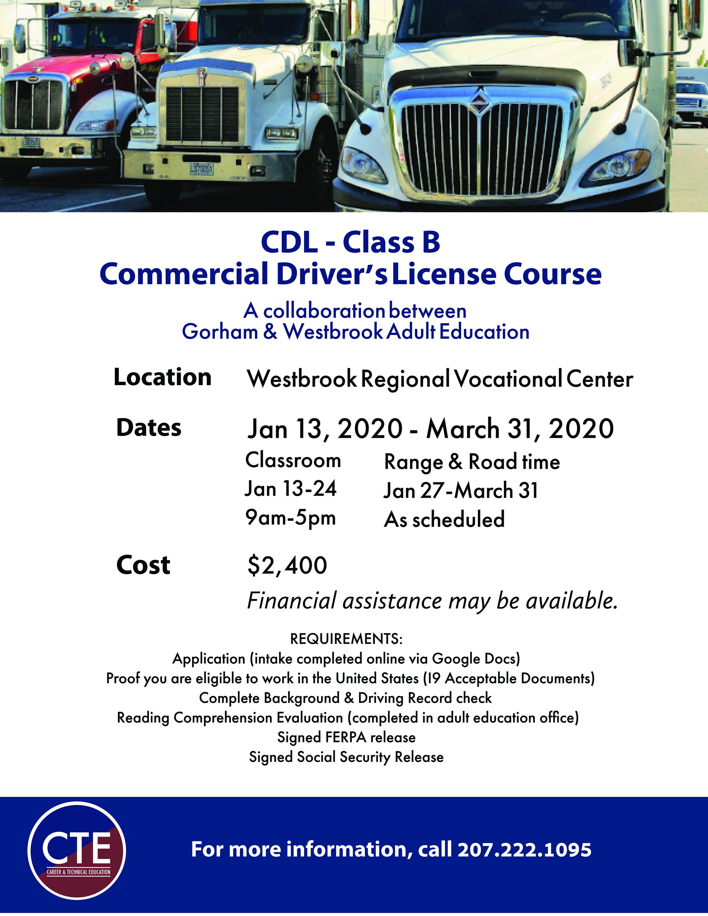 CDL Class B Flyer Jan 2020
